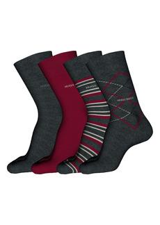 Hugo Boss BOSS 4-Pack Assorted Crew Socks Gift Set
