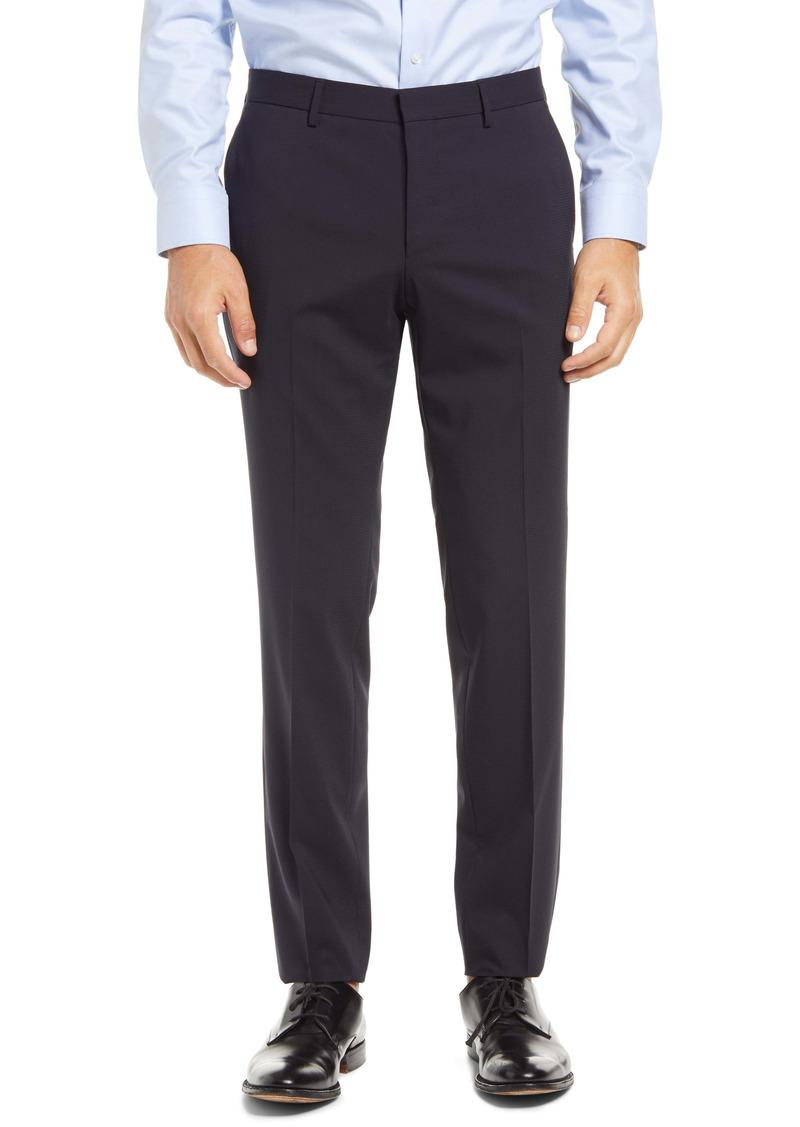 Hugo Boss BOSS Ben Flat Front Solid Wool Trousers