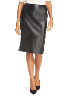 BOSS Hugo Boss Sepassa Leather Pencil Skirt