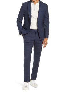 Hugo Boss BOSS Novan/Ben Slim Fit Plaid Wool Suit