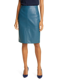 Hugo Boss BOSS Seltoni Leather Skirt