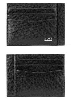 Hugo Boss BOSS Signature RFID Leather Card Case