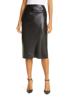 Hugo Boss BOSS Valedy Faux Leather Wrap Front Skirt