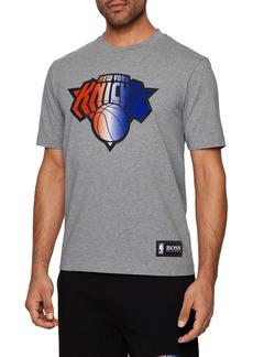 Hugo Boss BOSS x NBA Tbasket New York Knicks Embossed Logo Graphic Tee