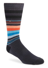 Hurley Tall Stripe Crew Socks