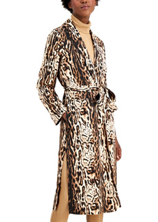 INC International Concepts Inc Animal-Print Belted Trench Coat, Created for Macy's