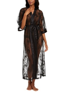 INC International Concepts Inc Long Lace Wrap Robe, Created for Macy's