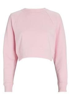 Intermix Ariella Cropped Cotton Sweatshirt