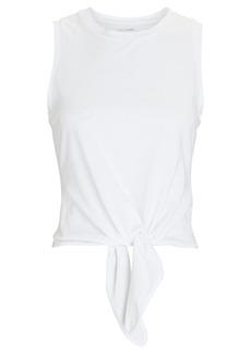 Intermix Cotton Tie-Front Tank Top
