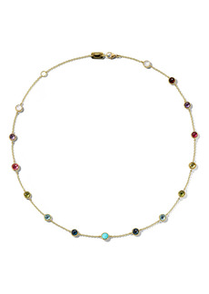 Ippolita 18K Gold Lollipop Stone Station Necklace