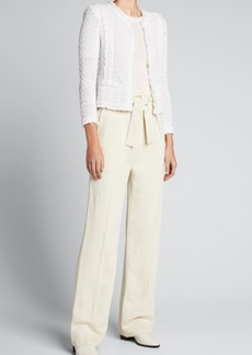 Iro Apollonia Belted High-Rise Pants