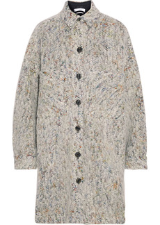 Iro Woman Abdona Oversized Donegal Brushed Bouclé Jacket Light Gray