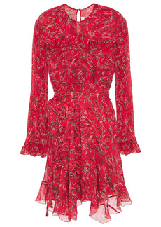 Iro Woman About Ruffled Printed Georgette Mini Dress Red