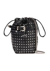 Iro Woman Belty Studded Leather Bucket Bag Black