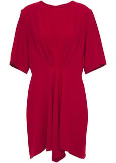 Iro Woman Demeteros Draped Crepe Mini Dress Crimson