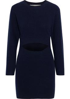 Iro Woman Devlin Cutout Merino Wool And Cashmere-blend Mini Dress Navy