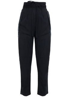 Iro Woman Dolci Belted Tencel-twill Tapered Pants Black