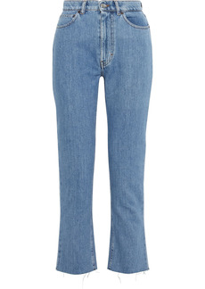 Iro Woman Eifele Frayed High-rise Straight-leg Jeans Mid Denim