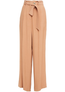 Iro Woman Hastro Belted Twill Wide-leg Pants Sand
