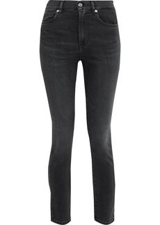 Iro Woman Hauss Cropped High-rise Skinny Jeans Black