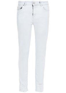 Iro Woman Jelsa Distressed Mid-rise Skinny Jeans Light Denim