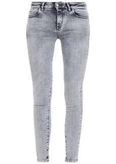 Iro Woman Jelsi Acid-wash Low-rise Skinny Jeans Stone