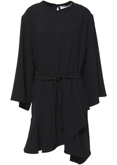 Iro Woman Layer Belted Crepe Mini Dress Black