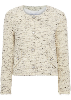 Iro Woman Mercie Cotton-blend Bouclé-tweed Jacket Cream