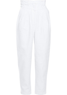 Iro Woman Monmar Pleated High-rise Tapered Jeans White
