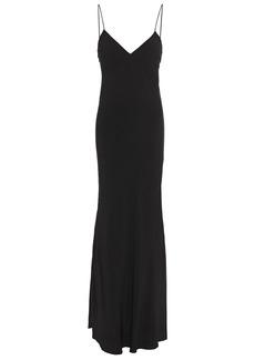 Iro Woman Phyn Charmeuse Maxi Slip Dress Black