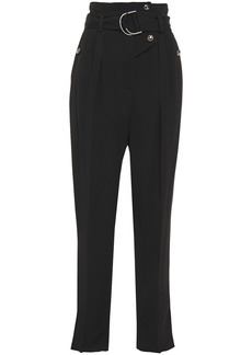 Iro Woman Punch Belted Twill Tapered Pants Black