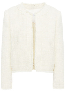 Iro Woman Saussan Metallic Cotton-blend Tweed Jacket Ivory