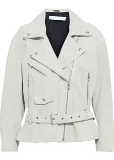 Iro Woman Tigao Suede Biker Jacket Off-white