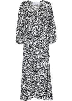 Iro Woman Zanaka Leopard-print Jersey Maxi Wrap Dress White