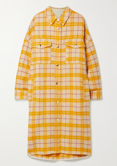 Isabel Marant Fontia Oversized Checked Wool-blend Flannel Coat