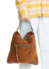 Isabel Marant Amuko Suede & Leather Hobo Bag