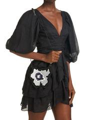 Isabel Marant Biskoo Floral Leather Crossbody Bag