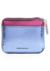 Isabel Marant Daniil Metallic Leather Zip Around Wallet