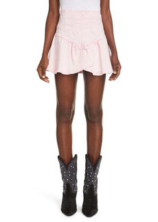 Isabel Marant Dimenia Denim Ruffle Miniskirt