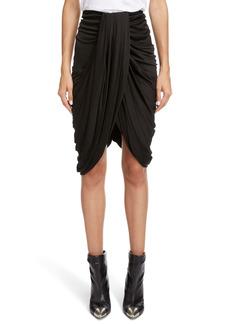 Isabel Marant Dotina Drape Jersey Skirt
