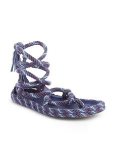 Isabel Marant Erol Twisted Rope Ankle Tie Sandal (Women)