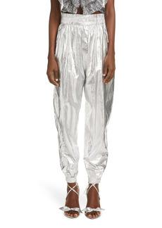 Isabel Marant Galoni Metallic Cotton Pants