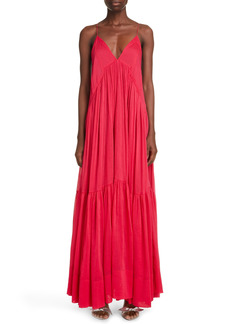 Isabel Marant Katniss Tiered Cotton & Silk Dress