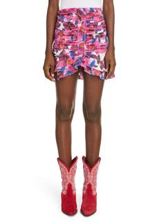 Isabel Marant Milendi Floral Ruffle Ruched Skirt
