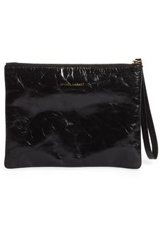 Isabel Marant Netah Leather Wristlet Clutch - Black