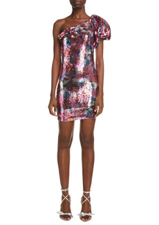 Isabel Marant Osira Floral Sequin One-Shoulder Dress