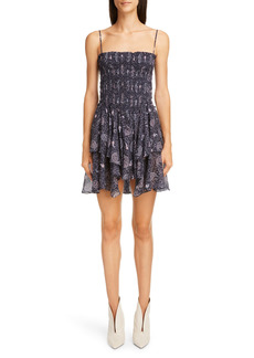Isabel Marant Étoile Anka Mix Paisley Print Cotton Sundress