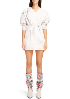 Isabel Marant Étoile Lacanau Tie Dye Long Sleeve Cotton Dress