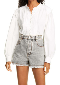 Isabel Marant Étoile Okina Balloon Sleeve Cotton Blouse
