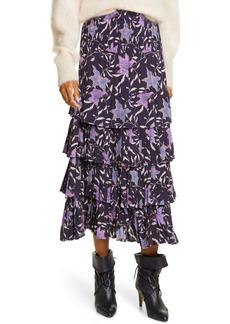 Isabel Marant Étoile Orfeo Floral Midi Skirt